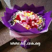 99 stalks Colourful Roses Bouquet