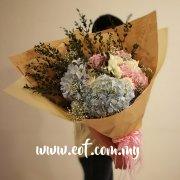 Hydrangea with White Roses Giant Bouquet