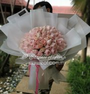 99 stalks Pink Roses Bouquet
