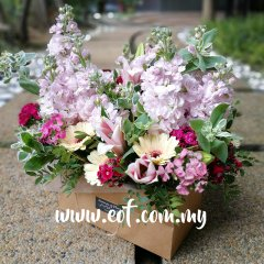 Flower Arrangement in Bag