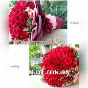 99 Stalks Red Roses Bouquet