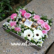 Flower Box with Chocolates